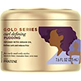 Pantene, Hair Cream Treatment, Sulfate Free Curl Defining Pudding, Pro-V Gold Series, for Natural and Curly Textured Hair, 7.