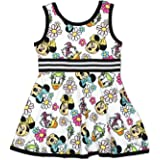 Minnie Mouse Daisy Duck Girls Toddler Fit and Flare Ultra Soft Dress