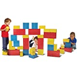 Melissa & Doug Jumbo Extra-Thick Cardboard Building Blocks - 40 Blocks in 3 Sizes