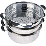 GMI Stainless Steel 3 Layers Steamer Pot 34Cm