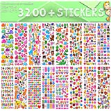 Stickers 3D Puffy Stickers Craft Scrapbooking for Kids Including Animals Cars Trucks Airplane Food Letters Flowers Pets and T