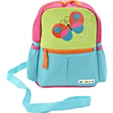 Alphabetz Butterfly Toddler Backpack with Leash, Safety Harness, for Girl