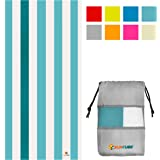 SUN CUBE Microfiber Beach Towel | Sand Free Towel, Lightweight, Quick Dry, Compact Swim Towel for Adults | Packable Easy to C