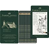 Faber-Castell Castell 9000 Graphite Pencil Design Set, Assorted Degrees, tin of 12 (10-119064)
