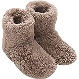 Mianshe 北欧 ルームシューズ もこもこ ルームブーツ 暖かい ボアスリッパ 男女兼用 (ベージュ Lサイズ 27cmくらいまで)