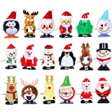 Max Fun 18 Pack Christmas Wind Up Toys Assortment for Christmas Party Favors Goody Bag Filler