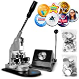 Button Maker Badge Making Machine - 58mm 2 ¼ inch 2.28 inch | Heavy Duty Circle Cutter Punch Press Machine | 1000 Circle Butt