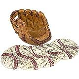 Baseball Coasters Set: Includes 4 Baseball Glove Ceramic Coaster for Drink. Vintage Sports Home Decor.