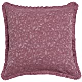 David's Home Throw Pillow Cover Yarn Dyed Stone Washed Bed Sofa Couch Decoration Pack of 1 45cm x 45cm Burgundy