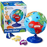 Learning Resources LER7735 Puzzle Globe, 3D Geography Puzzle, Fine Motor, Puzzle, Toddler Toy, 14 Pieces, Ages 3+, 8 in Dia