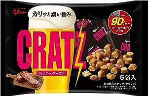 江崎グリコ クラッツ ペッパーベーコン 6袋 102g×8個 おつまみ ビールに合う スナック菓子