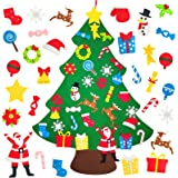 Felt Christmas Tree, 3.1ft DIY Christmas Tree for Kids Felt Xmas Tree with 32pcs Ornaments and Hanging Rope for Home Wall Doo