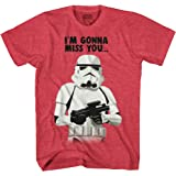 STAR WARS Stormtrooper Miss You Storm Trooper Funny Humor Pun Adult Men's Graphic Tee T-Shirt