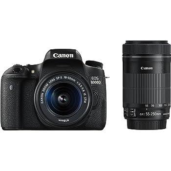 Canon デジタル一眼レフカメラ EOS 8000D ダブルズームキット EF-S18-55mm/EF-S55-250mm 付属 EOS8000D-WKIT