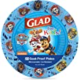 Glad for Kids Paw Patrol Paper Plates, 20 Count, 7 Inches | Disposable Paw Patrol Plates for Kids | Heavy Duty Disposable Soa