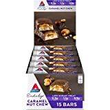 Atkins Endulge Caramel Nut Chew Bars | Keto Friendly Bars | 15 x 34g Low Carb Caramel Chocolate Bars | Low Carb, Low Sugar, H