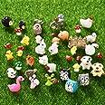 70 Pieces Mini Animals Miniature Ornament Kit Fairy Animal Figurines Garden Animals Miniature Micro Landscape Accessories for