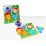 Early Learning Centre Touch & Feel Wooden Puzzle, Amazon Exclusive