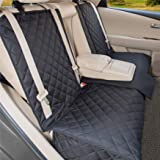 YesYees Waterproof Dog Car Seat Covers Pet Seat Cover Nonslip Bench Seat Cover Compatible for Middle Seat Belt and Armrest Fi