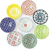 DeeCoo Cereal Bowls,Set of 8 Porcelain Bowls, 4.75 Inch Diameter,10 Fluid Ounces (1.25 Cup), Vibrant Colors Soup Bowls, Cute