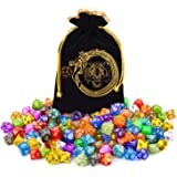 DND Dice Set, 140PCS Polyhedral Game Dice, 20 Set Double Color DND Role Playing Dice with 1 Big Pouch for Dungeon and Dragons