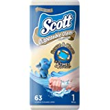Scott Disposable Cloth-Like Wipes, 63ct