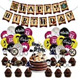 Harry Po_tter Birthday Party Decorations 50PCS Magical Wizard Party Supplies for Boys 24 Pack Colorful Balloons, 1 Pack Banne