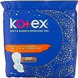Kotex Soft & Smooth Overnight 41cm x2 + Free Kotex Overnight Panties 2s, 28 count