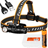Fenix HM61R 1200 Lumen L-Shape Magnetic Rechargeable Headlamp with White & Red Lights and LumenTac Battery Case