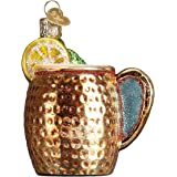 Old World Christmas Glass Blown Ornament Moscow Mule Mug (32273)