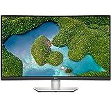 DELL S3221QS 32 Inch Curved 4K UHD Monitor, VA Ultra-Thin Bezel, AMD FreeSync, HDMI, DisplayPort, Built in Speakers, VESA Cer