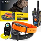 Dogtra 1902S 2-Dogs Remote Training Collar - 3/4 Mile Range, IPX9K Waterproof, Rechargeable, 127 Training Levels, Vibration -