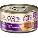 Wellness Core Natural Grain Free Wet Canned Cat Food, Kitten Turkey & Chicken Liver, 3 Oz Can - 12-Pack