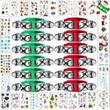 42PCS Band Wrist Bells Bracelets Stickers Party Favors for Christmas New Year Valentines School Children Jingle Musical Ankle