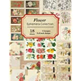 Flower Ephemera Collection: 18 sheets - over 200 vintage Ephemera pieces for DIY cards,journals and other paper crafts (Vinta