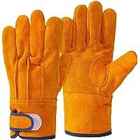 耐熱 手袋 キャンプグローブ レザーグローブ BBQ 耐熱グローブ アウトドア用 作業革手袋