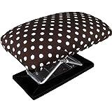 トレードワン 正座椅子 ワイドタイプ ドット柄 約幅22×奥行13.5×高さ16.5(折畳み時高さ8.5)cm 座面カバー 携帯用収納ポーチ付 20120
