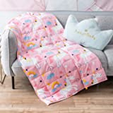 """Topblan Kids Weighted Blanket 5 lbs 41""""x60"""" for Kids and Teens, 100% Natural Cotton with Premium Glass Beads, Calming Kids Mi"""