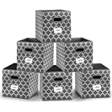Cloth Storage Bins,Flodable Cubes Box Baskets Containers Organizer for Drawers,Home Closet, Shelf,Nursery, Cabinet, with Dual
