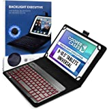 Cooper Backlight Executive Keyboard Case for 9-10.5 inch Tablets | Universal Fit | 2-in-1 Bluetooth Keyboard & Leather Folio,