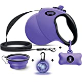 Ruff 'n Ruffus 360° Tangle-Free 16 ft Retractable Dog Leash for Pets Up to 110 lbs + Free Travel Bowl + Free Waste Bag Dispen