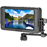 Neewer F400 5.7-Inch Camera Field Monitor Full HD 1920x1080 IPS with 4K HDMI DC Input Video Peaking Focus Assist with Tilt Ar