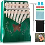 HeyMate Kalimba 17 Keys, Thumb Piano with Tuning Hammer and Study Instruction, Portable Mbira, Best Gift for Kids Adult Begin