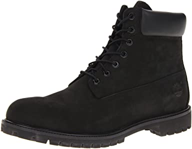 Waterproof 6 Inch Premium Boot: 10073 Black Nubuck