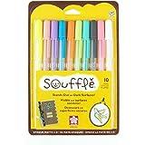 Sakura 58350 10-Piece Blister Card Souffle Assorted Color 3-Dimensional Opaque Ink Pen Set