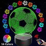 Sun Flower 3D Night Lights for Kids Baby Teen Children Bedroom Decor Night Lamp 2.Soccer 3D Night Lanp