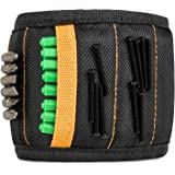 Magnetic Wristband with 15 Strong Magnets for Holding Screws, Nails, Drill Bits - Best Tool Organizers and Gift for Men, DIY