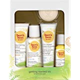 Burt's Bees Baby Getting Started Gift Set, 5 Trial Size Baby Skin Care Products - Lotion, Shampoo & Wash, Daily Cream-to-Powd