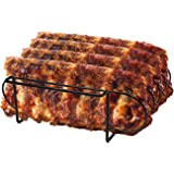 Sorbus Non-Stick Rib Rack – Porcelain Coated Steel Roasting Stand – Holds 4 Rib Racks for Grilling & Barbecuing