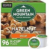 Green Mountain Coffee Roasters, Light Roast, Keurig Single-Serve K-Cup Pods, Hazelnut Decaf Coffee, 96 Count